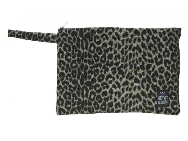 Τσαντάκι  Leopard Black  S