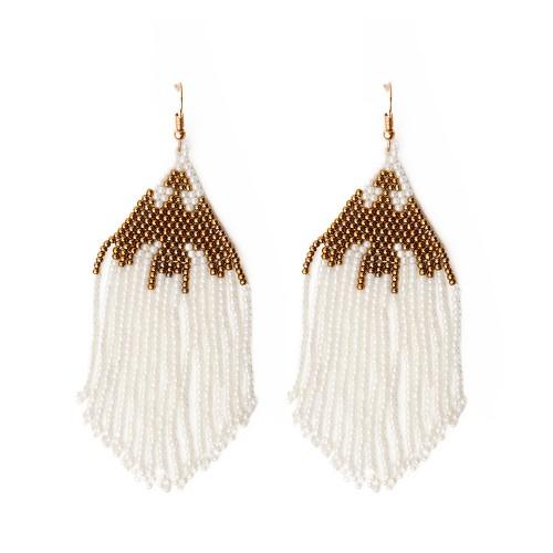 Σκουλαρίκια COLOMBIA white
