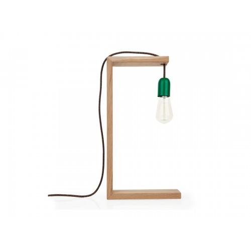Eπιτραπέζιο φωτιστικό LUMEN wood/green