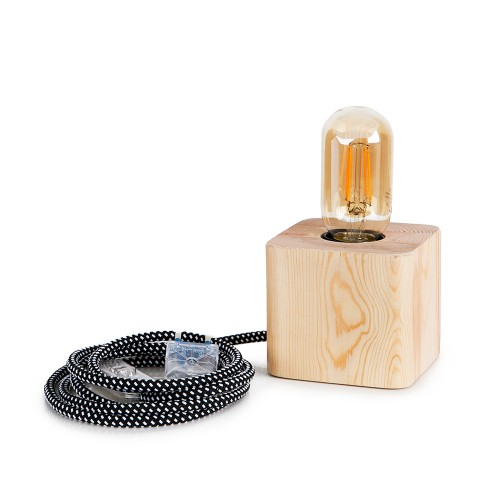 Eπιτραπέζιο φωτιστικό CUBE wood