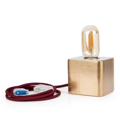 Επιτραπέζιο φωτιστικό CUBE gold/bordeaux