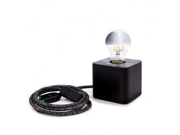 Επιτραπέζιο φωτιστικό CUBE black/brown